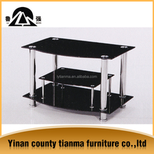 supply new model modern design living room furniture tempered glass top lcd tv stand