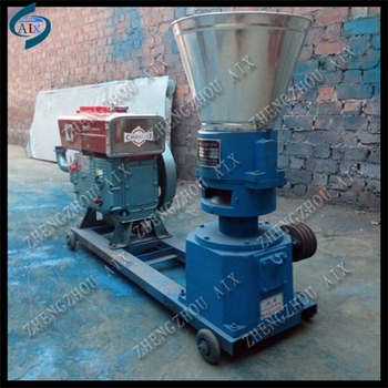 Diesel engine animal feed pellet extruder,animal pellet feed machine,feed pellet making machine