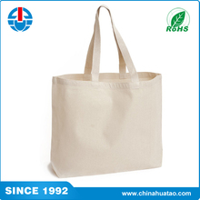 Fugang China Manufacturer Plain White Cotton Canvas Tote Bag For Sale