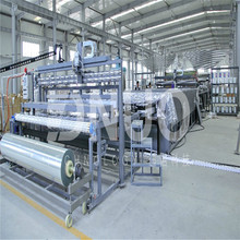 3.2m wide upper side gel coat frp roof sheet making machine