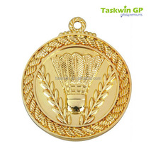 Hot sale high quality custom design metal sports medal emblem / gold badminton medals for sale