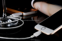visible flowing LED EL light USB data charging charger Cable for iphone for samsung