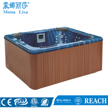 Economical 2.2 meter hydro massage Acrylic 6 person capacity outdoor spa hot tub with air jets and bubbles(M-3321B)