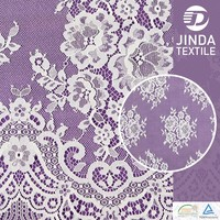 wholesale cheap white bridal embroidered tulle dubai fabric lace for beautiful wedding dress new design
