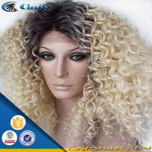 indian human hair kinky curly pretty woman crazy multi color wigs