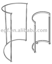 Half Round Garment Rack / Clothes Display Rack / Metal Clothing Fixture
