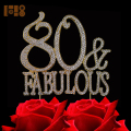 80 & Fabulous GOLD Cake Topper happy birthday cake photos