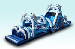 2015 Hot sale inflatable tunnel game,adult inflatable obstacle course,giant inflatable obstacle Z4016