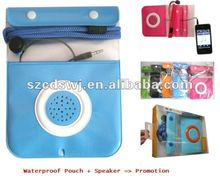 Waterproof Pouch Passive mini Speaker for MP3/Mobile/Iphone