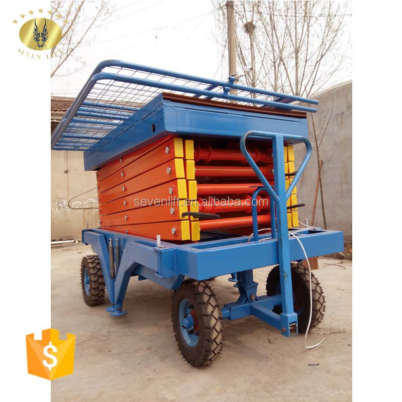 7LSJY Shandong SevenLift Scissor lift 8 Meters weight 300 to 400 kg 2 unit auto lift