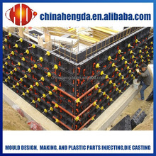 reusable plastic concrete formwork for wall construction