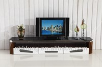 white wooden TV stand showcase