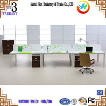 Classical modular MDF wood panel 4 people executive office table office desk