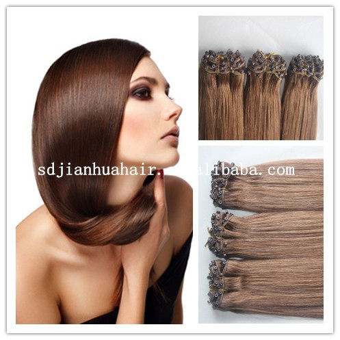 2015 new arrival High quality Micro Beads Weft Hair Extensions,fish line hair extensions
