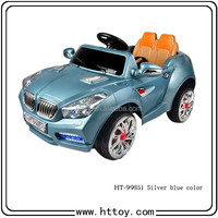 HT-99851 Silver-blue color simluation ride on car for kid