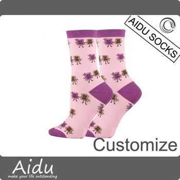 Design your own Socks Custom Eco Friendly Organic Cotton Woman Sock