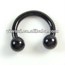 black circular barbell with ball,body piercing jewelry