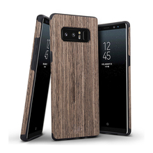 Slim Matte Wood Grip Rubber Bumper Ultra Light Soft TPU Back Cover Premium Smooth Wooden Shell Case for Samsung Galaxy Note 8