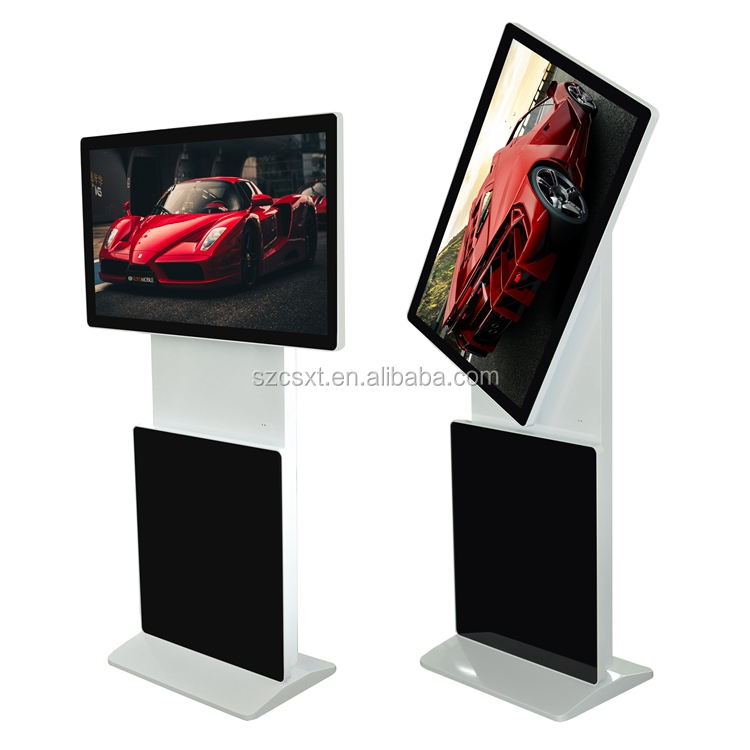 3g 4g flexible rotatable screen freestanding digital signage kiosk advertising machine with wifi
