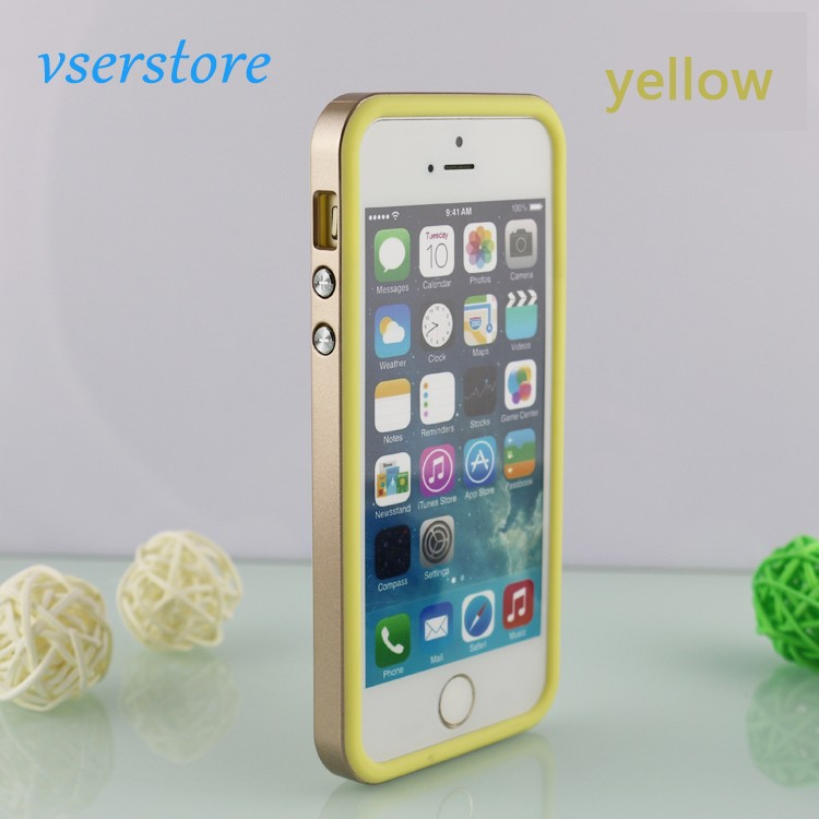 Golden borders phone sets case wholesale metal mobile phone cases for iphone 5