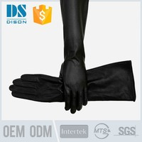 Women Lady's Italian Genuine Leather winter Long Fleece Gloves