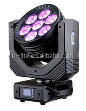 High Quality Disco DJ Club Decoration 7pcs 15w rgbw 4-in-1 led beam moving light