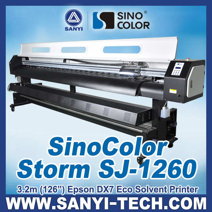 3.2m Sinocolor Eco Solvent Digital Banner Printer SJ1260 with Best Price