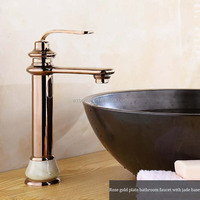 Fashion antique marble gold hot and cold wash basin rose gold faucet.luxury faucet.