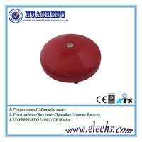 12V or 24v red color round aluminum housing gong bells