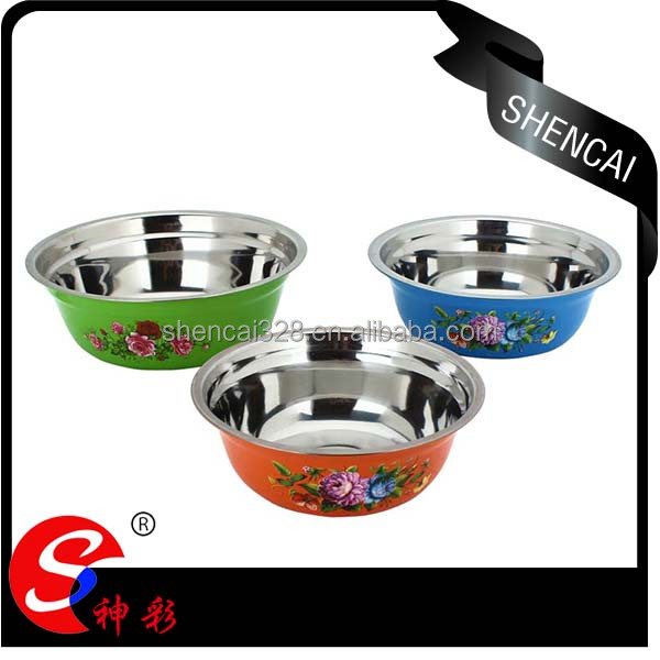 cheap soup bowl stainless steel ,etal rice soup noodle ramen bowl