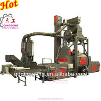 Mesh Belt Type Shot Blasting Machine for Steel structure building construction profile