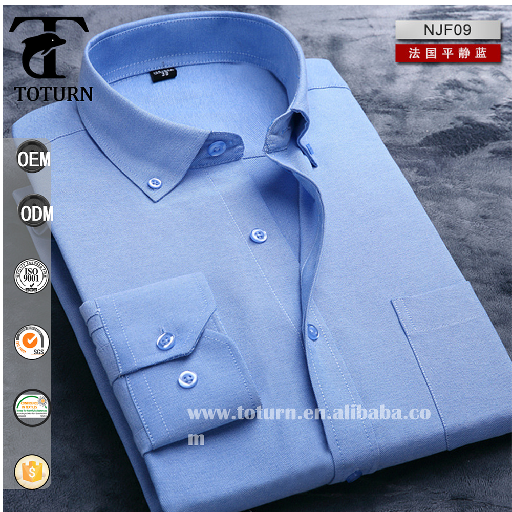 Custom Made Multi Colored Oxford Fabric Mens Dress Shirts