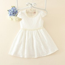Wholesale high quality cheap price knee length sleeveless one year baby party dresses