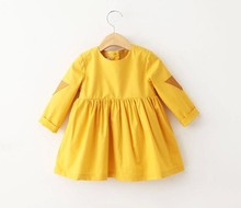 2017 Fashion long sleeve baby girl frock design