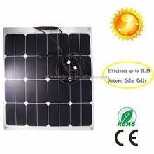 High Efficiency Custom Size 50w ETFE Flexible Solar Panel 18V With Sunpower Solar Cells