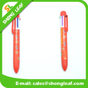 Sublimation printed cartoon pattern 6 color ink ballpens