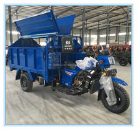 hot sale cheap price single cylinder four strke automatic hydraulic garbage triciclo for sale in Peru