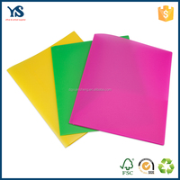 Professional custom pp plastic Presentation A4 two pockets file folder