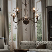 Wrought Metal Antique Filament Pendant Aged Lamp Iron Finished with Low Price