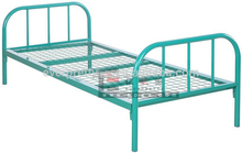Strong kids metal single bed with slide, stackable single metal bed frame for kids