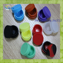 G-2014 High quality customized small silicon food jar for sticky wax product container storage