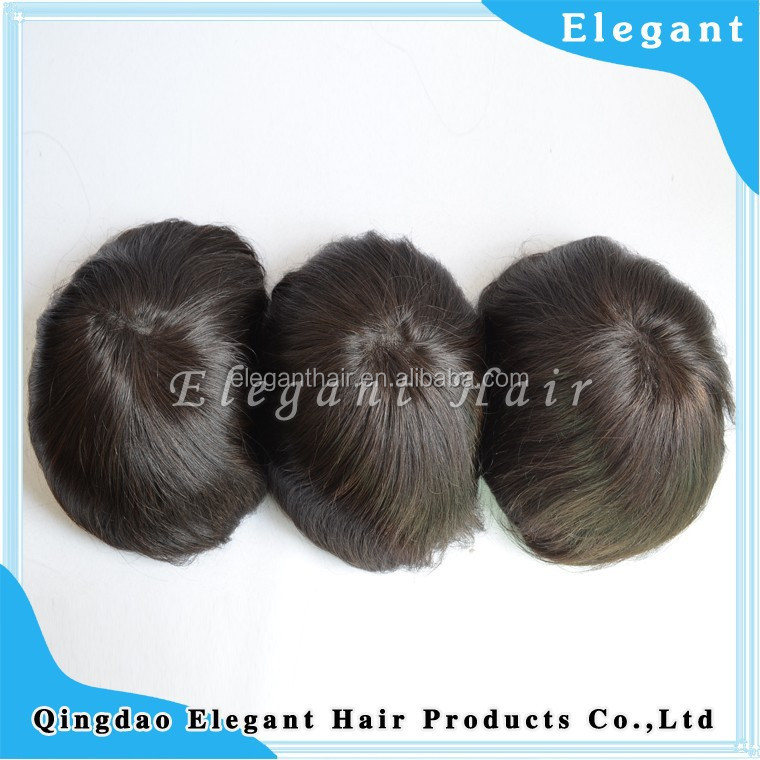 Elegant thin skin injected hair men toupee
