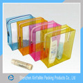 Wholesale transparent waterproof promotional PVC cosmetic pouch with printing