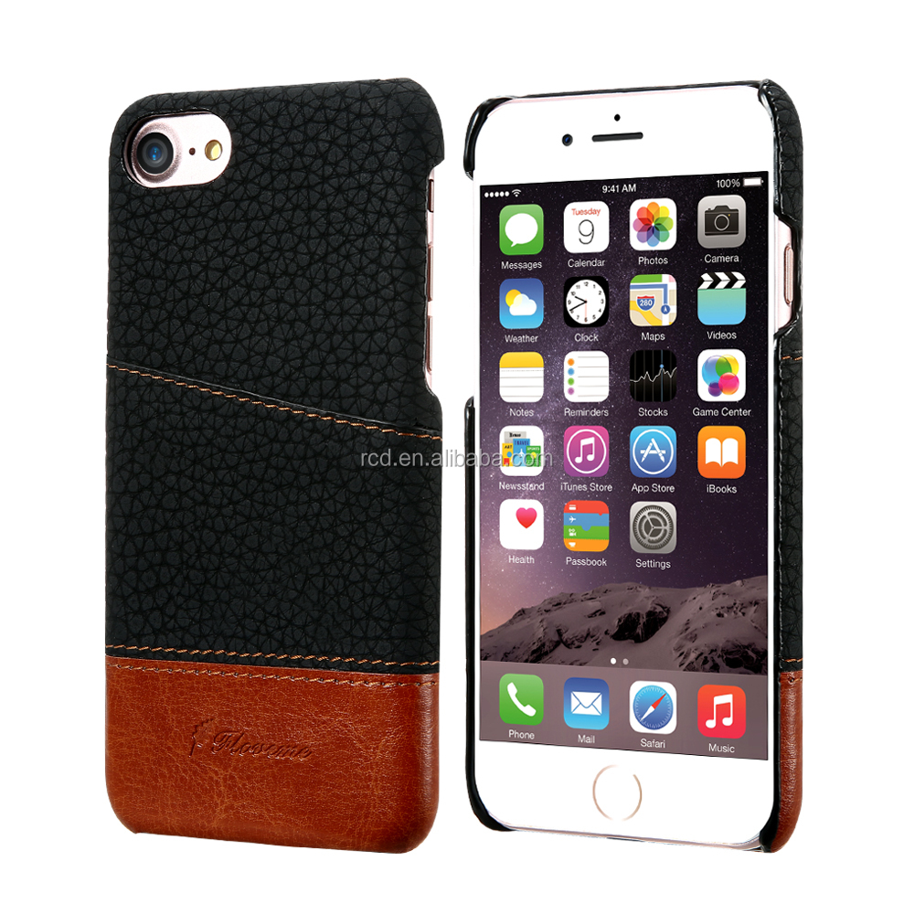 2017 Hotsale FLOVEME New Design 4 Colors 2 in 1 combo Back Card Case Cover For IPhone 6/ 7 Plus PU PC Cover
