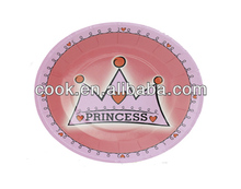 girl crown hot plate plate party tableware