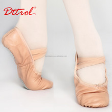 D004703 Dttrol cheap wholesale split sole leather dance ballet shoes manufacturer