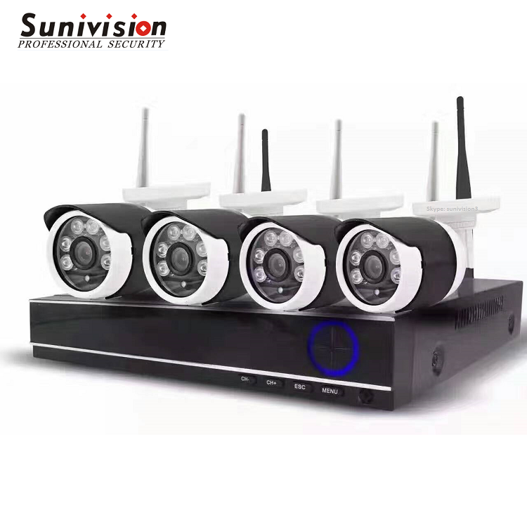 4 channel 720P outdoor wifi nvr kit camera system