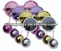 party rock glasses with disco ball