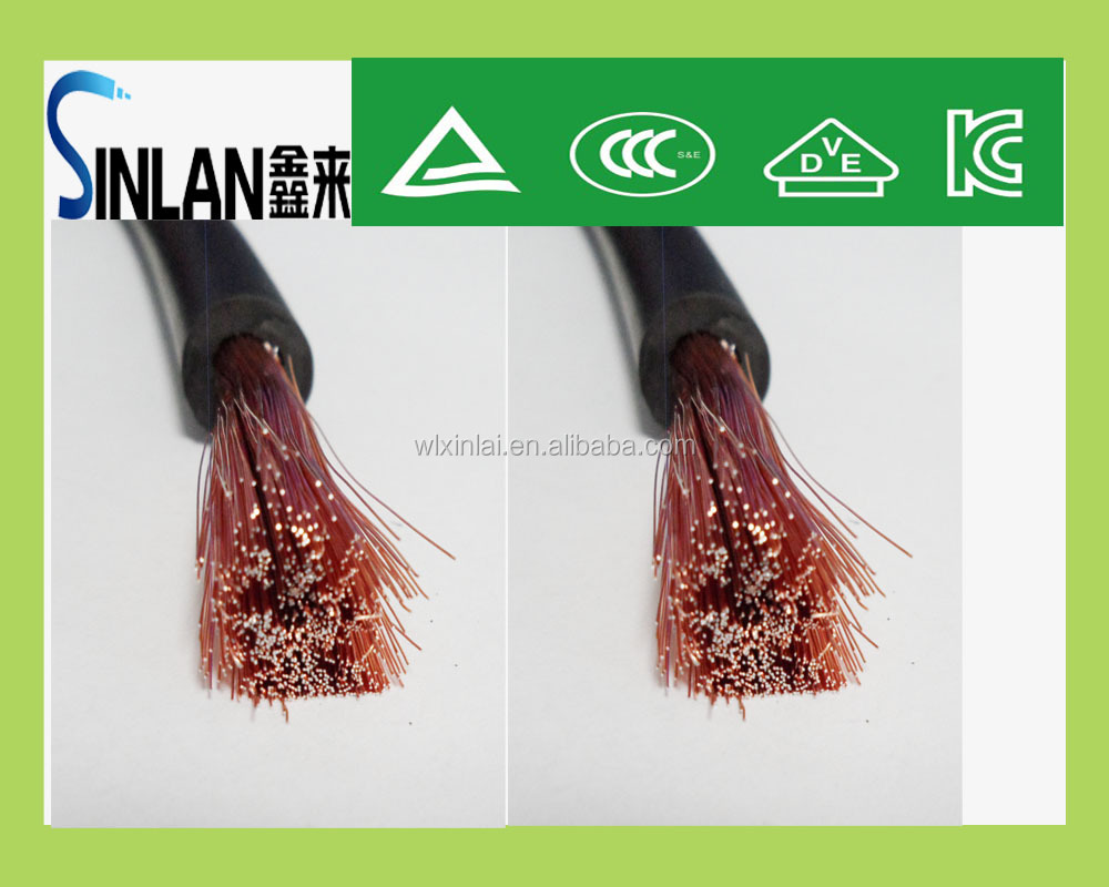 copper conductor pvc insulation 25mm welding cable cca cable