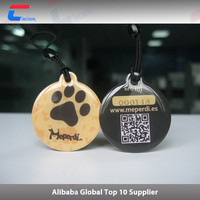 NFC pet id rfid tag, qr code nfc pet tracking tag electronic dog collar
